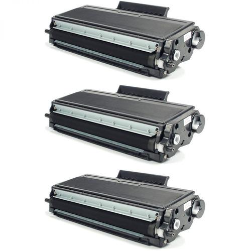 kit 3x toner compatível com brother dcp-8065dn 8860dn 8660dn