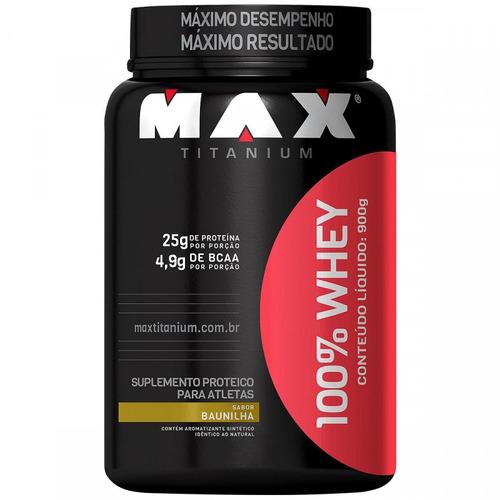kit 3x whey 100% baunilha- max titanium