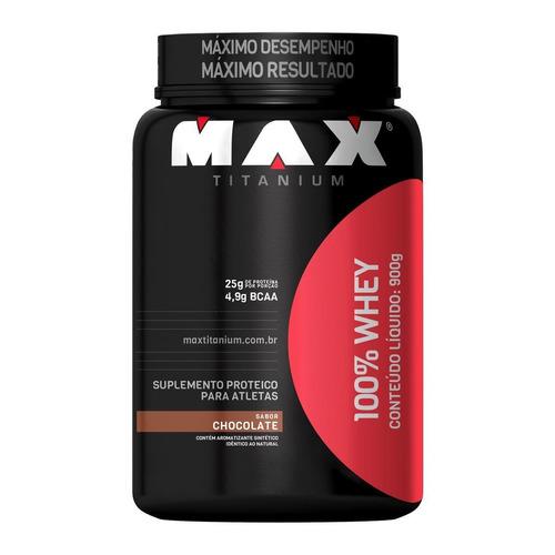 kit 3x whey 100% chocolate- max titanium