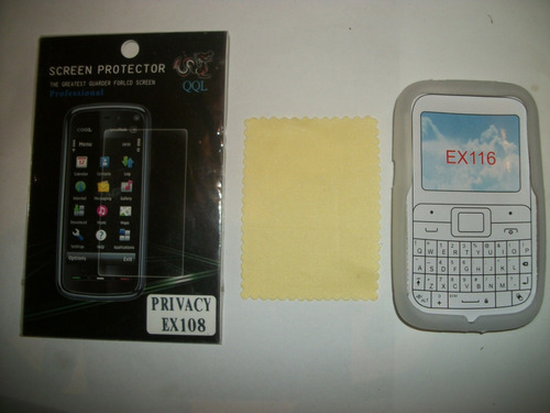 kit 3x1 silicon+ mica privacidad+ paño motorola ex116!!!