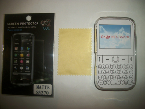 kit 3x1 tpu+ mica matte+ paño samsing chat 2 s5270!!!