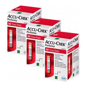Kit 3x50 Accu-chek Performa (150 Tiras Reagentes) Promoção