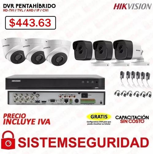 kit 4 2 6 8 16 camaras de seguridad cctv 5mp 5 mp  hikvision