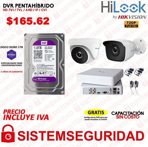 kit 4 6 8 2 16 camaras seguridad hd 720p 1080p disco purple