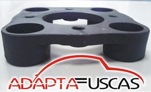 kit 4 adaptador roda 4x130 p 4x100 fusca/gol 16 paraf cromad