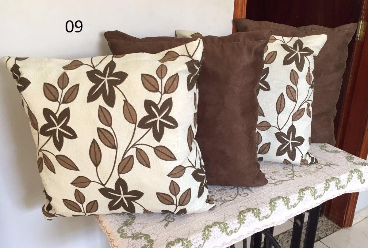 407ca327f kit 4 almofadas decorativas tons de marrom baratas. Carregando zoom.
