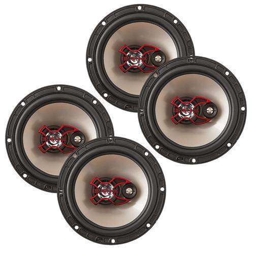 kit 4 alto auto falantes bravox b3x60x + 6 polegadas som