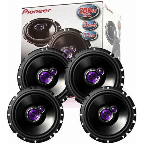 kit 4 alto falante pioneer porta diant. / tras. agile todos