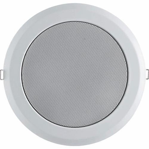 kit 4 alto falante teto arandela branca redonda 220w 6 pol.
