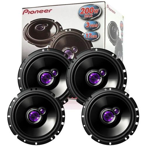 kit 4 alto falantes 2 pares de 6  pioneer/ new civic todos