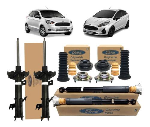 kit 4 amortecedor completo new fiesta hatch sedan original
