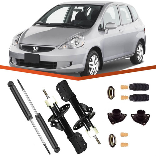 kit 4 amortecedor honda fit 2003 2004 2005 2006 2007 2008