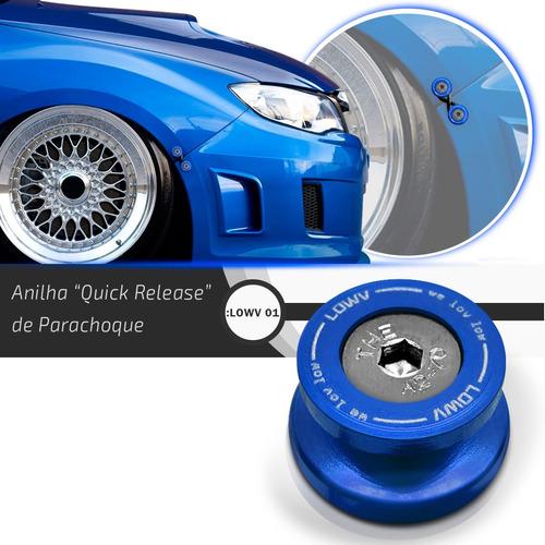 kit 4 anilha trava parachoque rebaixado quick release azul