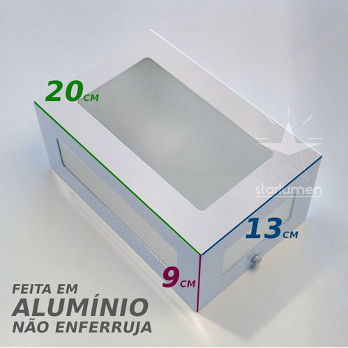 kit 4 arandela 5 vidros + led 12w externa parede st569