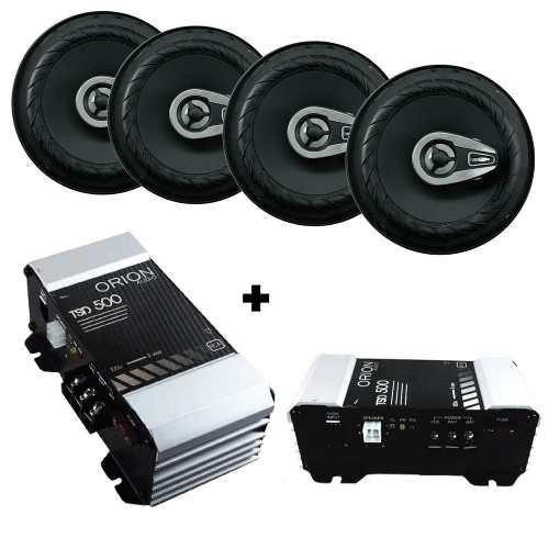 kit 4 auto falante 6 pol 280 watts + modulo tsd 500