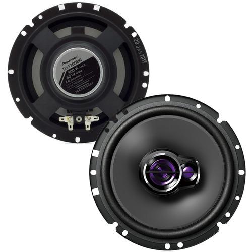 kit 4 auto falante 6 pol pioneer triaxial 200w rms ts-1760br