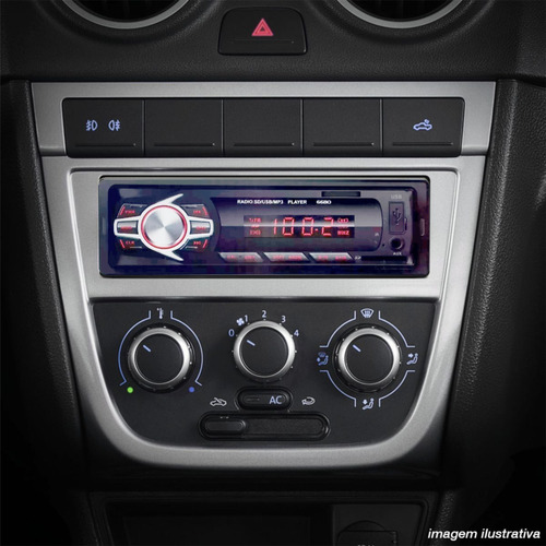 kit 4 auto falante 6 pol + rádio carro mp3 usb+ antena fm