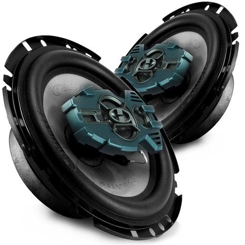 kit 4 auto falantes 6 polegadas 260 rms + potencia ts400