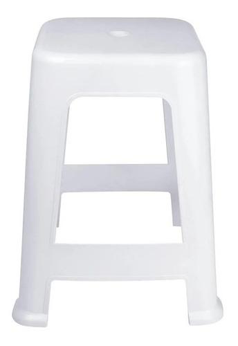 kit 4 banqueta bela vista plástico suporta até 120 kg empilhável bar restaurante cozinha jardim- mor