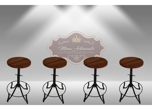 kit 4 banquetas bistrôs alta fácil locomoçãosuper promoção