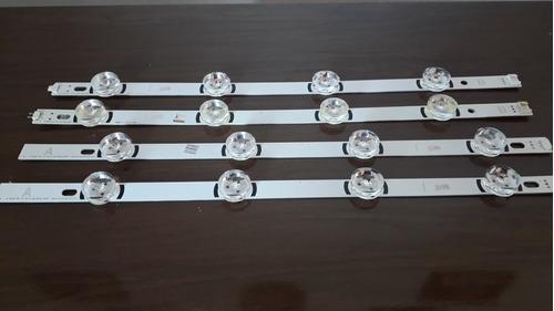 kit 4 barras de led tv lg