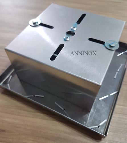kit 4 bases para montagem de lustre de cristal em inox 14x14