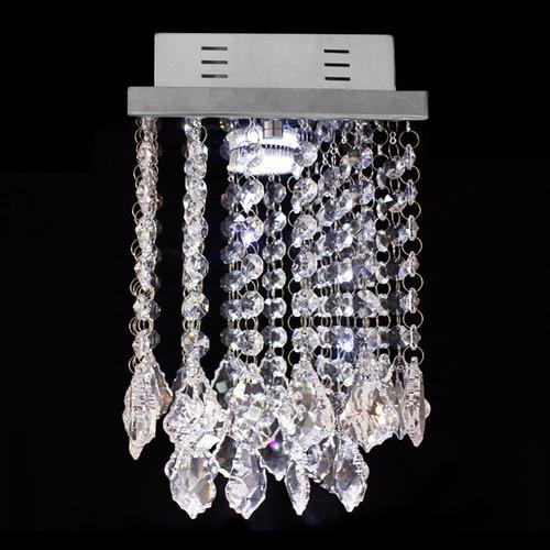 kit 4 bases para montagem de lustre de cristal em inox 17x17