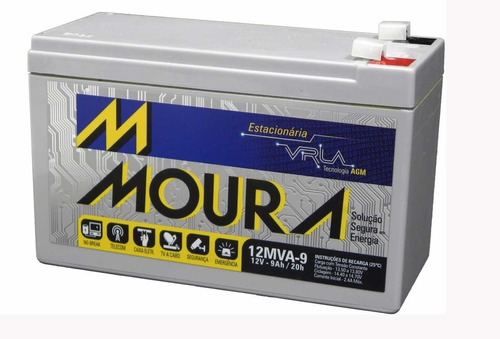 kit 4 bateria moura 12v 9a bicicleta bike moto elétrica 0471