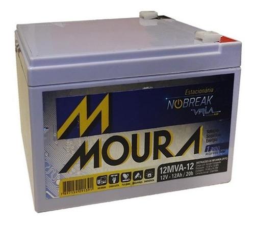 kit 4 baterias moura 12v 12a bike elétrica rema 12mva-12