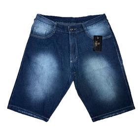 e6484da8520e44 Kit 4 Bermudas Jeans Masculina 34 Ao 54 C/ Nf-e