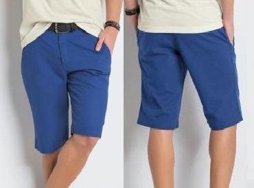 kit 4 bermudas masculina coloridas sarja / jeans atacado