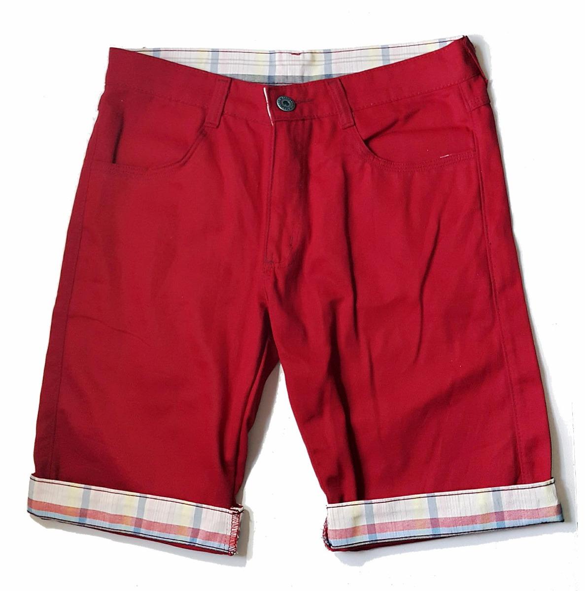 b93cdafd71 kit 4 bermudas masculina sarja atacado colorida barra jeans. Carregando  zoom.