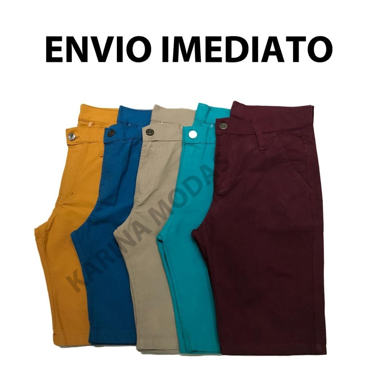 Kit 4 Bermudas Masculina Sarja   Jeans - R  119 8eea6b9bb75