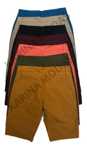 kit 4 bermudas masculina sarja jeans lindas c/ nota fiscal