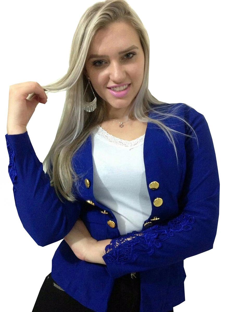 796137960a kit 4 blazer feminino 10 botões manga renda guipir terninho. Carregando  zoom.