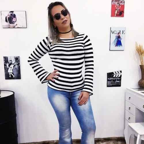 851ddf2ec Kit 4 Blusa Tricot Promoção Moda Feminina Atacado K11 17 + - R  149 ...