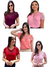 baf328b87206 Blusas Femininas Variadas - Blusas Femininas com o Melhores Preços no  Mercado Livre Brasil