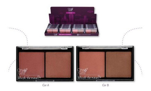 kit 4 blush city girls 2 cores 2 versoes cores alucinantes.