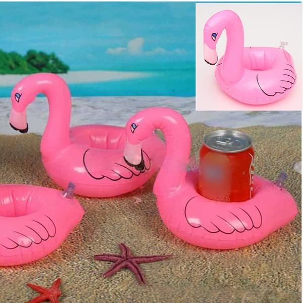 Kit 4 b ias infl veis porta copo 2 flamingos 2 for Piscina lidl
