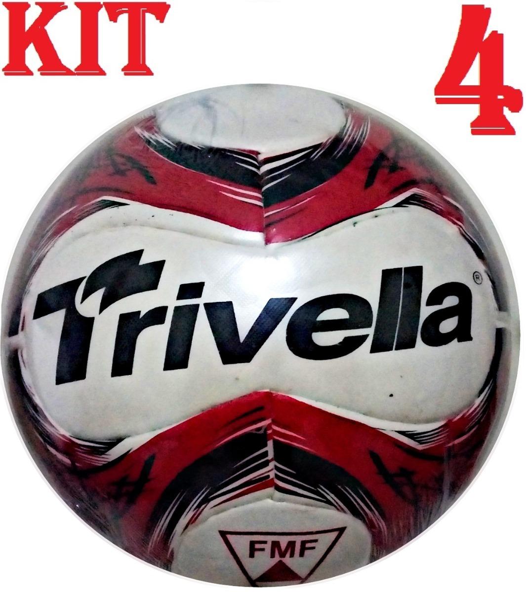 Kit 4 Bolas De Campo 100% Pu Trivella - Brasil Gold - R  260 53694b813419c