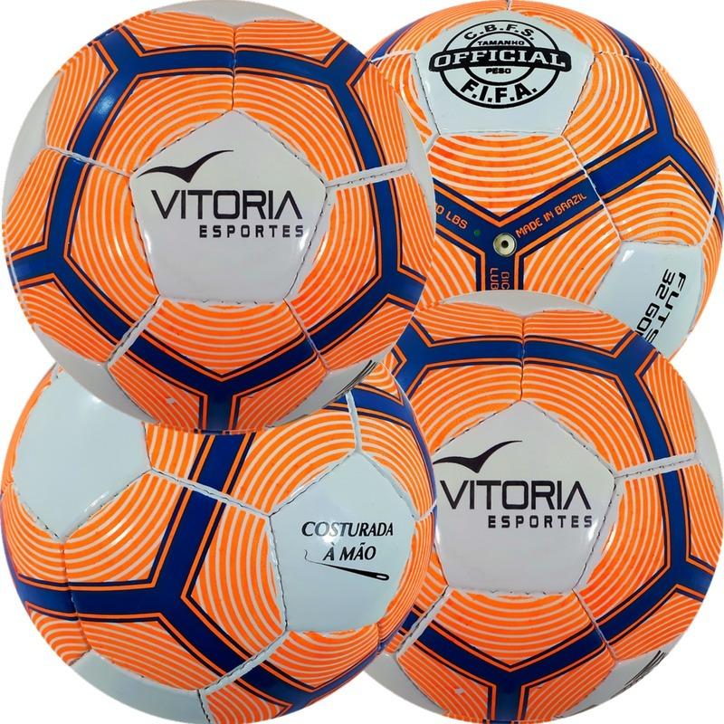 c9fd8620e7a0b kit 4 bolas futsal vitória oficial costurada mão mx510. Carregando zoom.