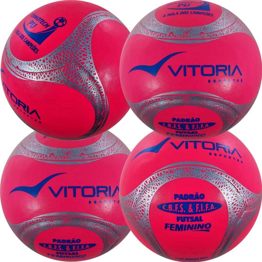 fe58dc350b kit 4 bolas futsal vitoria oficial termotec feminina. Carregando zoom.