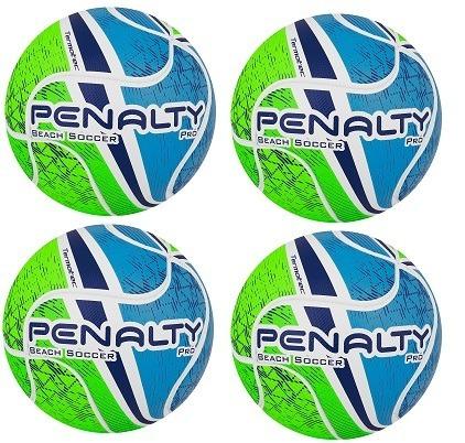 5187affb1 Kit 4 Bolas Penalty Beach Soccer Pro Termotec - Frete Grátis - R  719 ...