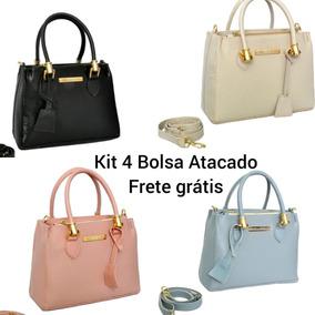 bd922678bce Kit 4 Bolsa Feminina Lateral Varias Cores Atacado
