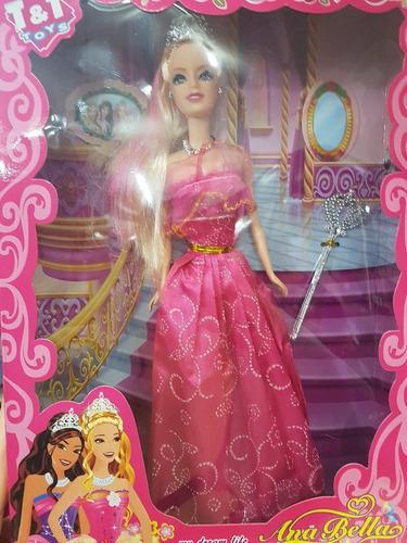 kit 4 bonecas ana bella princesas modelo barbie atacado