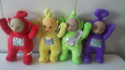 kit 4 bonecos teletubbies de pelucia musical