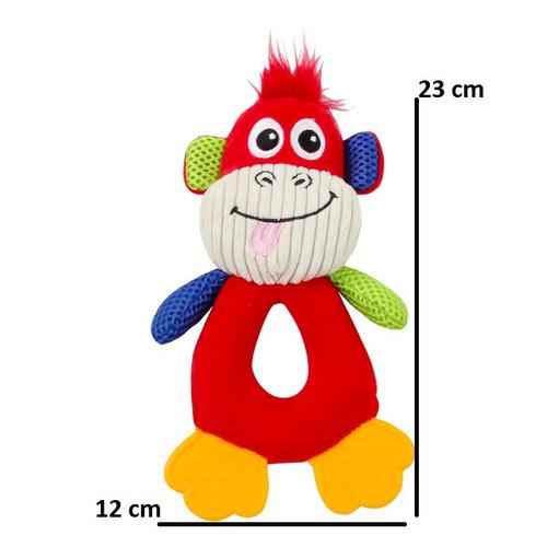 kit 4 brinquedos de pelúcia com apito coleção vivid pawise