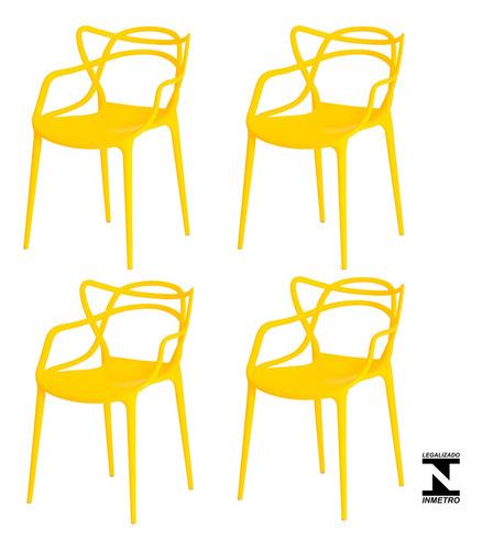 kit 4 cadeiras allegra cozinha c/ inmetro várias cores