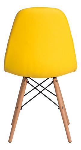 kit 4 cadeiras eiffel botonê eames dsw base madeira várias c