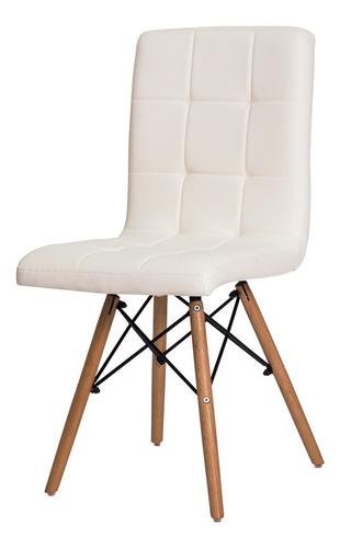 kit 4 cadeiras gomos base madeira várias cores